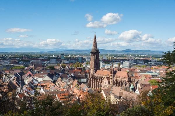Freiburg skyline, Black Forest, Germany by Wandering Wheatleys
