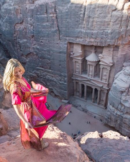 Views of the Treasury, Petra, Jordan by Wandering Wheatleys