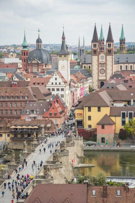 The Alte Brücke in Würzburg, Germany by Wandering Wheatleys