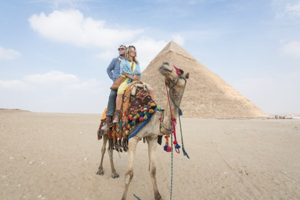 Camel ride at the pyramids, Giza, Egypt by Wandering Wheatleys