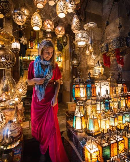 Egyptian Lamps in Khan el-Khalili, Cairo, Egypt by Wandering Wheatleys