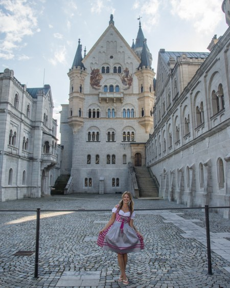 Neuschwanstein Castle Courtyard, Germany by Wandering Wheatleys