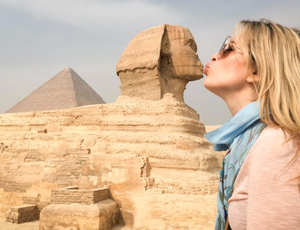 Kissing the Sphinx, Giza, Egypt by Wandering Wheatleys