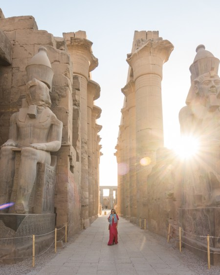 Sunset at Luxor Temple, Luxor, Egypt by Wandering Wheatleys