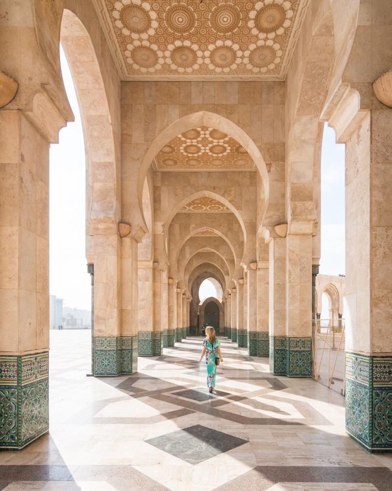 Archways of Hassan II Mosque, Casablanca, Morocco by Wandering Wheatleys