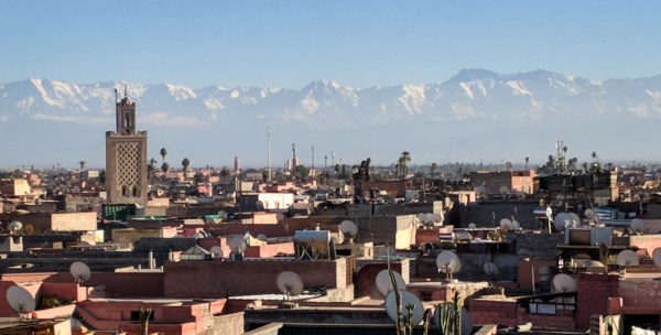 The Atlas Mountains rise over Marrakech, Morocco by Wandering Wheatleys