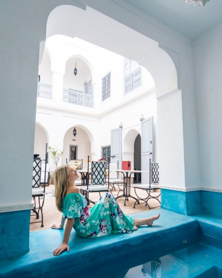 Dipping pool at Riad Chi Chi, Marrakech, Morocco by Wandering Wheatleys