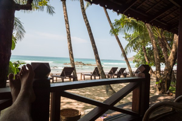 View from our Bungalow on Ngapali Beach, Myanmar by Wandering Wheatleys