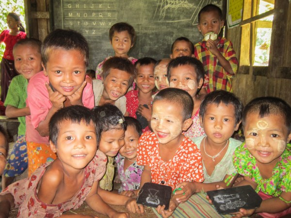 School children in Myanmar by Wandering Wheatleys