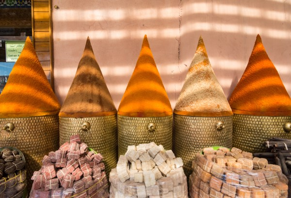 Spice shopping in the Souk, Marrakech, Morocco by Wandering Wheatleys