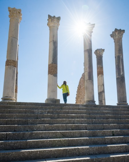Capitoline Temple of Volubilis, Morocco by Wandering Wheatleys
