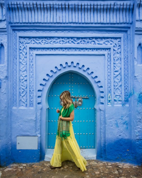 Mosque Doorway in Chefchaouen, Morocco by Wandering Wheatleys