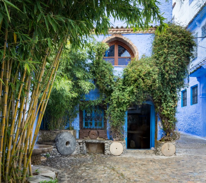 Cafe in Chefchaouen, Morocco by Wandering Wheatleys