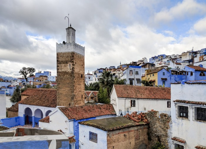 Rooftops in Chefchaouen, Morocco by Wandering Wheatleys
