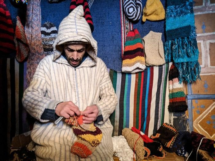 Hat Man in a djellaba, CHefchaouen, Morocco by Wandering Wheatleys