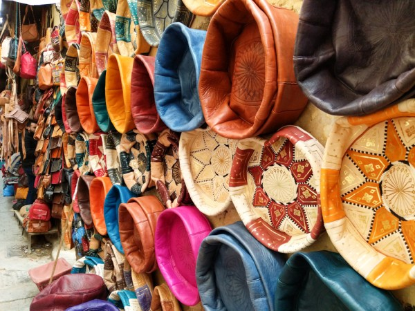 Leather Poofs in the Medina of Fes, Morocco by Wandering Wheatleys
