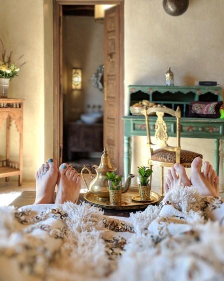 Mint tea service, Villa Anouk, Essaouira, Morocco by Wandering Wheatleys
