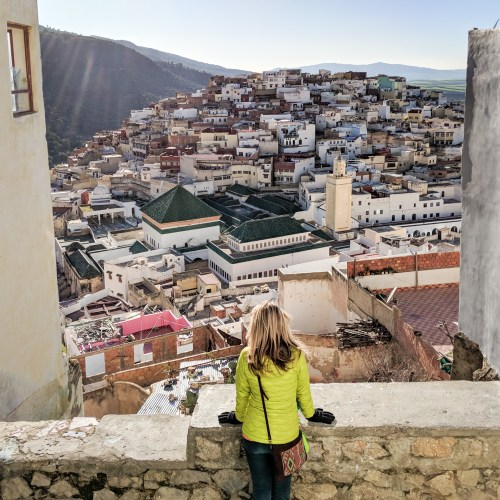 View from La Petite Terrace, Moulay Idriss, Morocco by Wandering Wheatleys