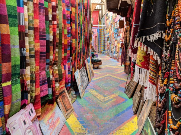 Rainbow Street in the Medina, Fes, Morocco by Wandering Wheatleys