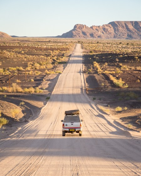 Driving in Namibia by Wandering Wheatleys
