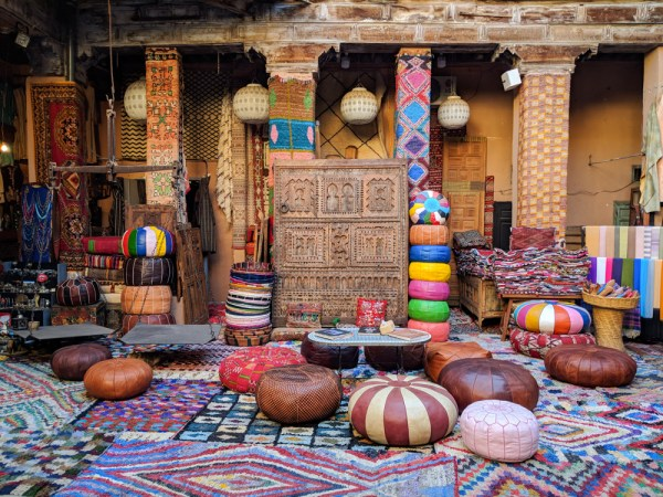 Shopping Guide to Morocco: Leather Poofs by Wandering Wheatleys