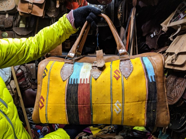 Shopping in Morocco: Leather Bag by Wandering Wheatleys