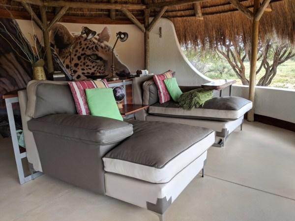 Living Room of Okonjima Bush Camp, Namibia by Wandering Wheatleys