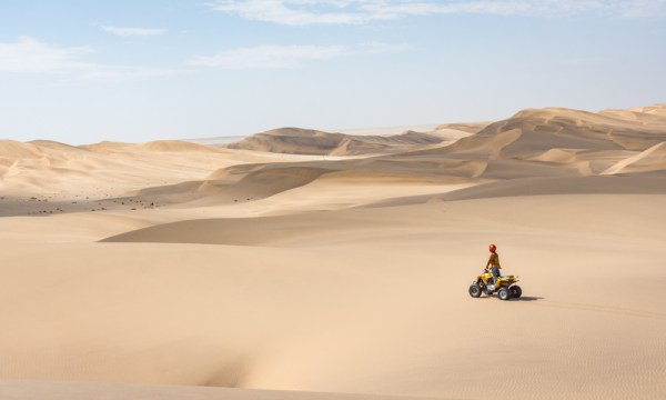 Quad Biking through the massive sand dunes around Swakopmund, Namibia by Wandering Wheatleys