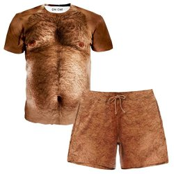 Men's Chest Hair T-Shirt and Shorts