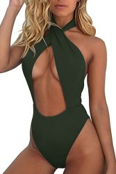 Ridiculous Women's Swimsuits: Criss Cross One Piece