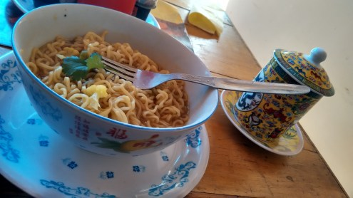 Hot maggi for the early morning chills