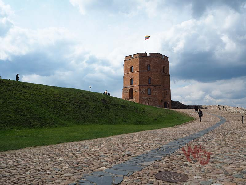 the walk up to the Gediminas castle