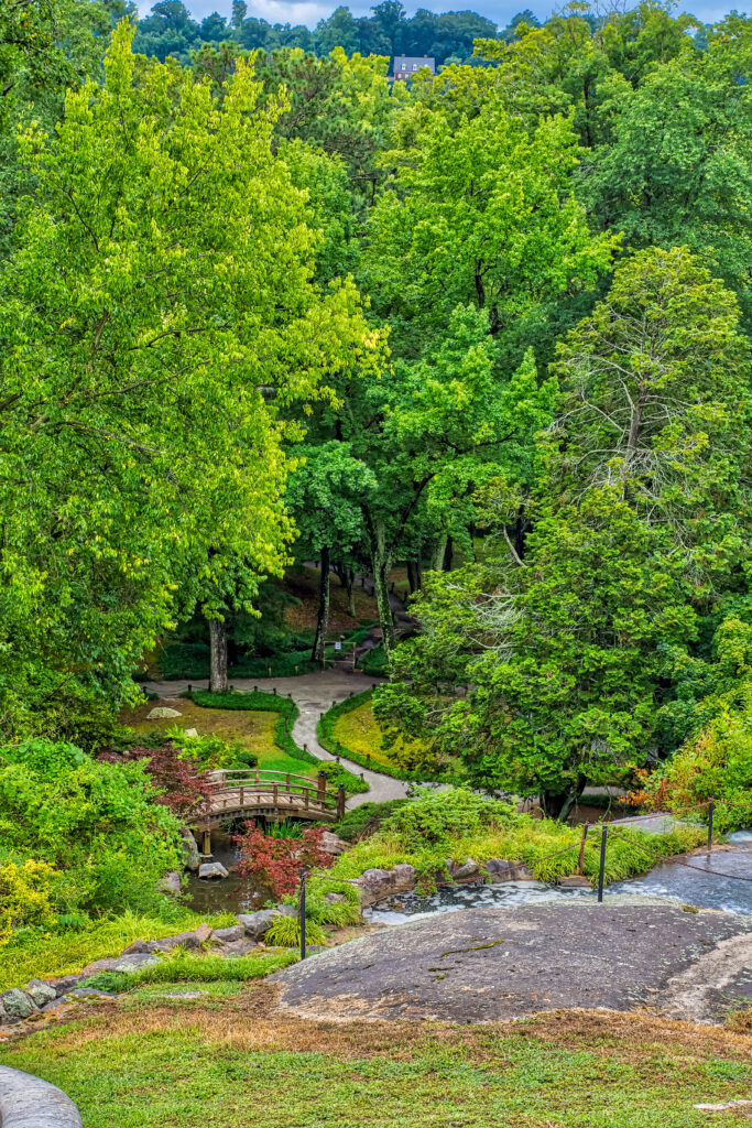 View from the top of the waterfall at Maymont in Richmond VA