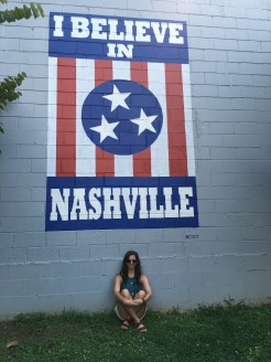 Can't go to Nashville without a picture at the I Believe in Nashville mural! There are multiple around town.