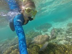 Just swimming alongside my new friend, Mr. Sea Turtle