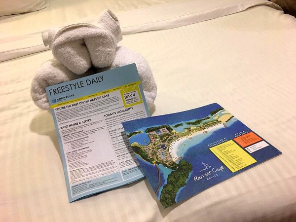 Cruise Towel Frog and Itinerary