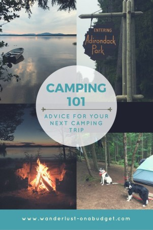 Camping Advice - camping supplies - travel - Wanderlust on a Budget - www.wanderlust-onabudget.com