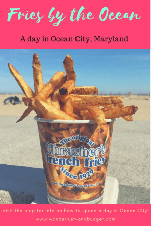 Fries by the Ocean - A day in Ocean City Maryland - Backshore Brewing Company - Bad Monkey Restaurant - boardwalk - beach - Wanderlust on a Budget - www.wanderlust-onabudget.com