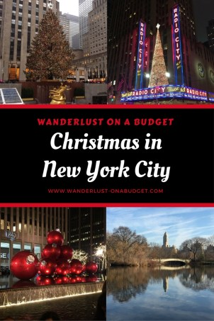 Christmas in New York City - Rockefeller Center - Times Square - NYC - www.wanderlust-onabudget.com