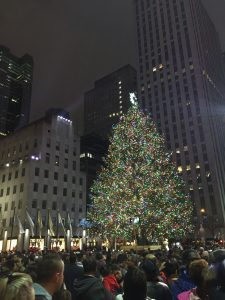 NYC Rockefeller Center Tree Night - Christmas in New York City