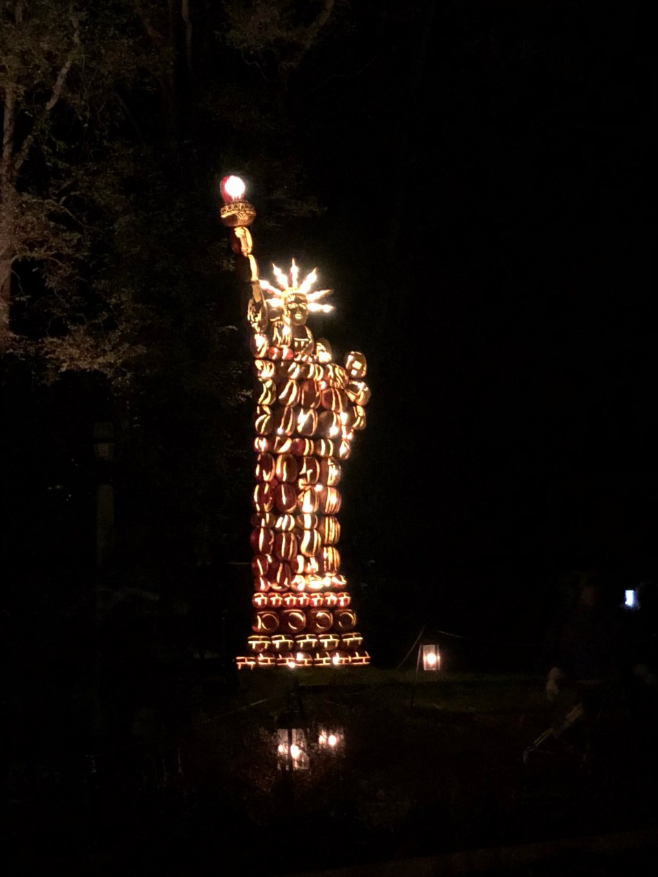Great Jackolantern Blaze Statue of Liberty