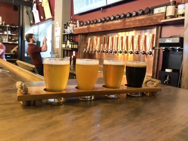 Talking Cursive Brewing Company Flight