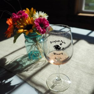 Brimfield Farm Winery Glass