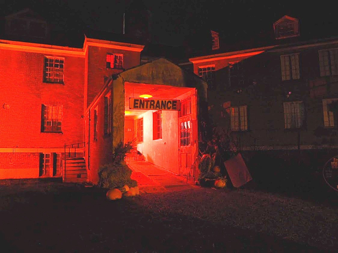 Rolling Hills Asylum Entrance - Red - Most Haunted Place in New York