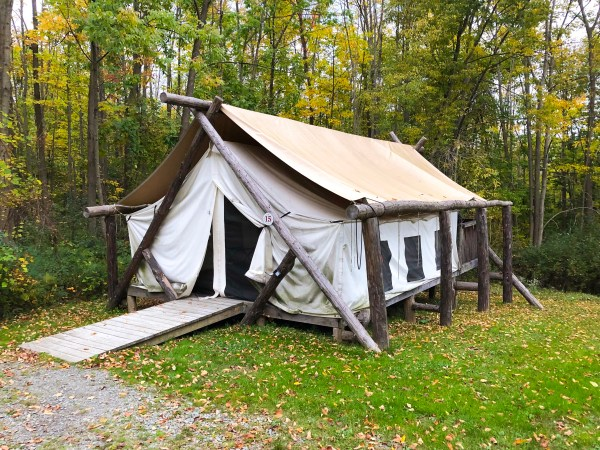 Glamping in Ithaca - Firelight Camps Tent