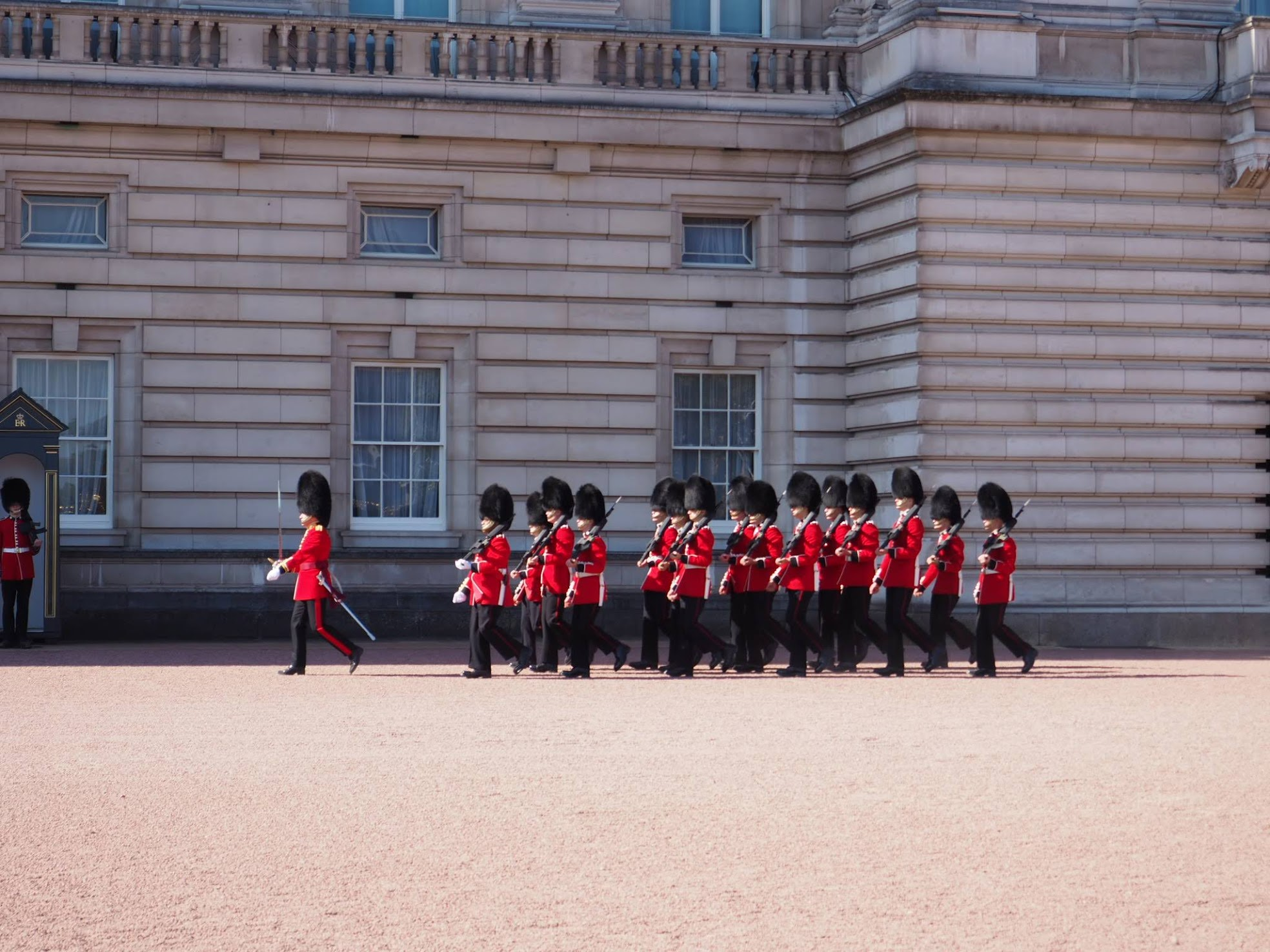 Buckingham Palace Guards Marching