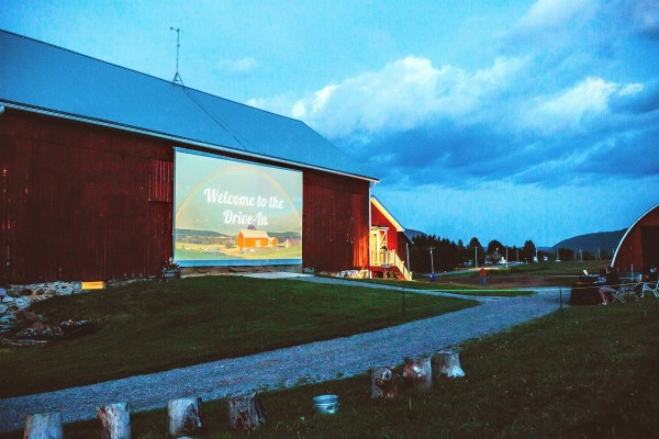 Drive-in movie on a barn. Photo by Lisa Rossi, http://www.lisarossiphotography.com/