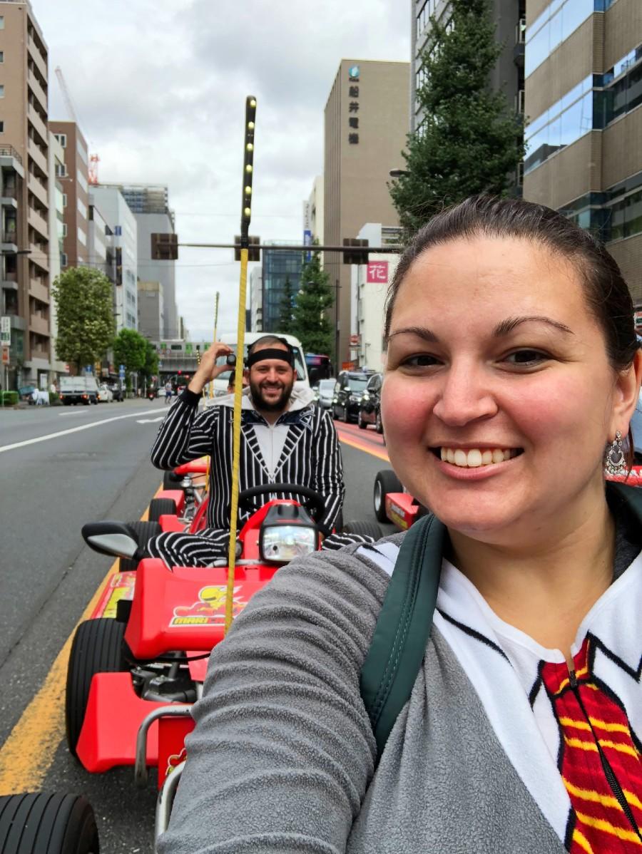 Dani and Josh Go Karting in Tokyo