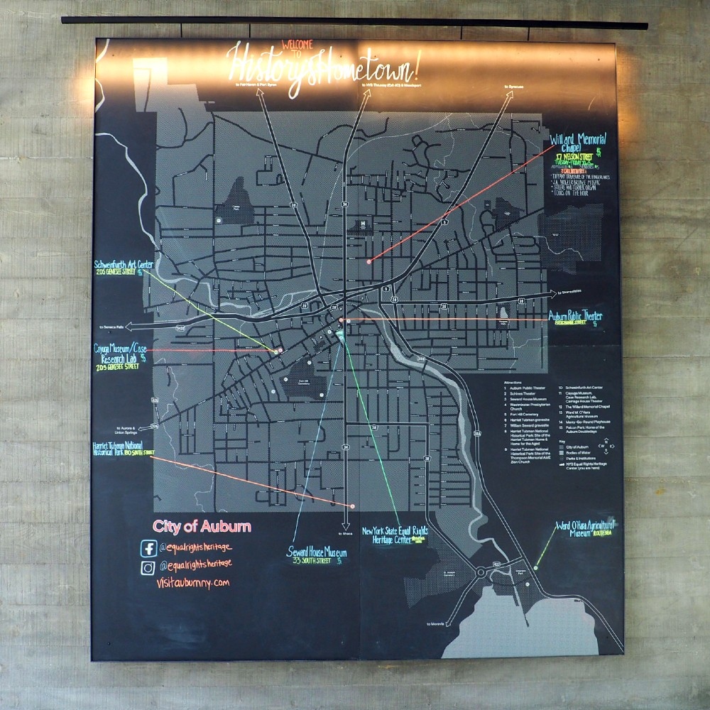 Map at Heritage Center
