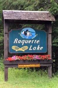 Raquette Lake Sign